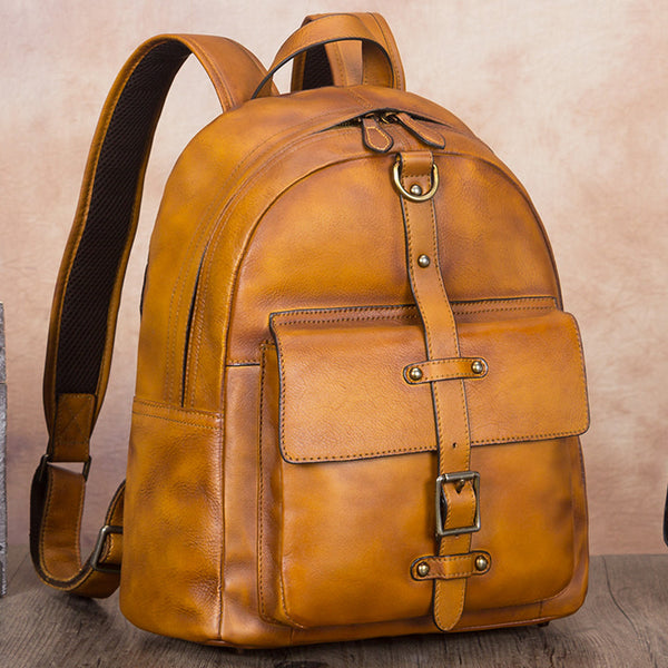 Vintage Style Ladies Leather Rucksack Backpack Purse for Women Boutique