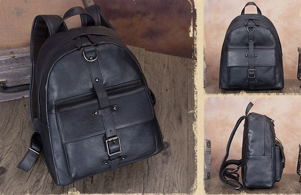 Vintage Style Ladies Leather Rucksack Backpack Purse for Women Durable
