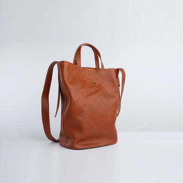 Casual Women Genuine Leather Tote Bags Handbags Shoulder Tote Purse for Women