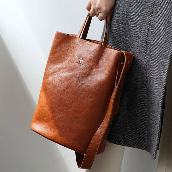 Vintage Women Genuine Leather Tote Bag Handbags Shoulder Bag for Women chic