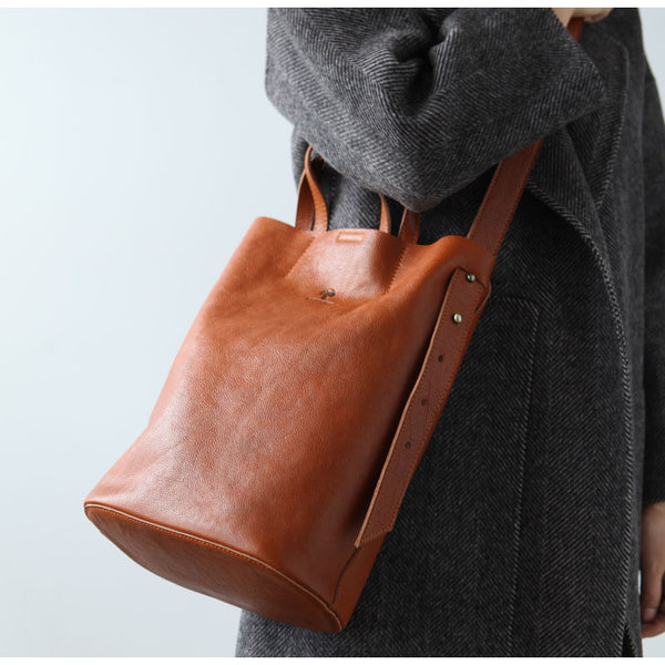 Vintage Women Genuine Leather Tote Bag Handbags Shoulder Bag for Women cowhide