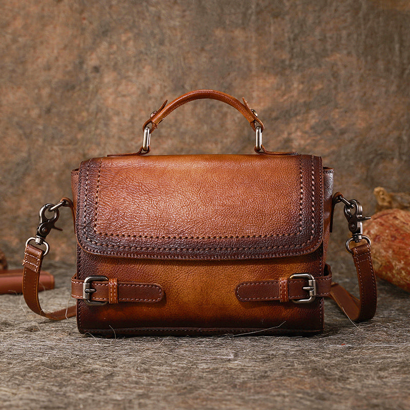 Vintage Women Leather Satchel Bag Crossbody Bags Purse for Women Accessories