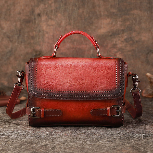 Vintage Women Leather Satchel Bag Crossbody Bags Purse for Women beautiful