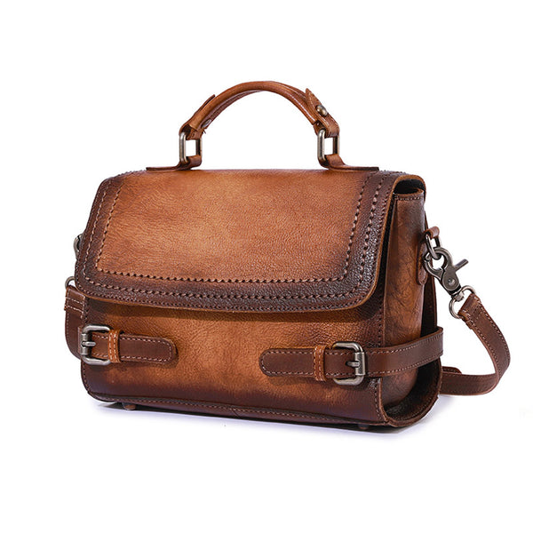 Vintage Women Leather Satchel Bag