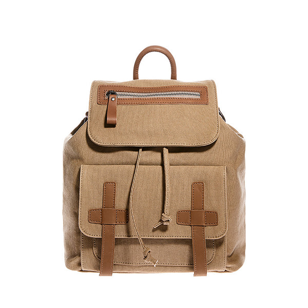 Vintage Women's Canvas Leather Travel Backpack Purse Rucksack for Women Accessories