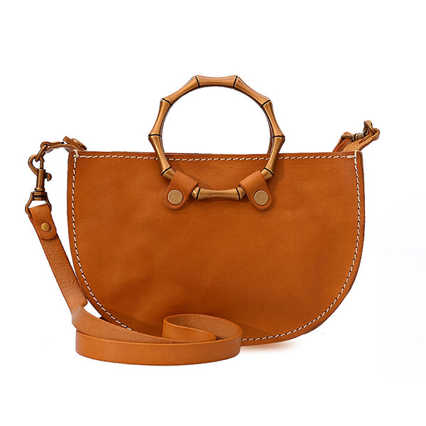 Vintage Women's Genuine Brown Leather Handbags