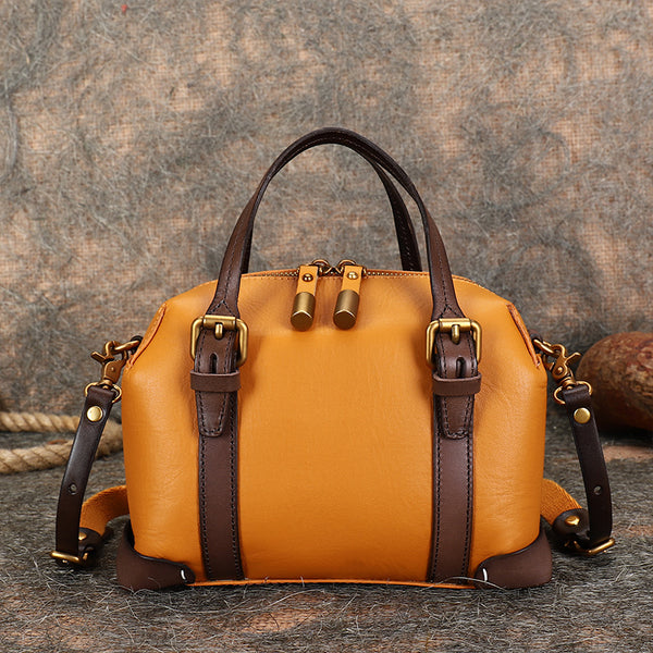 Vintage Women's Genuine Leather Handbags Crossbody Sling Bags Purse for Women Accessories