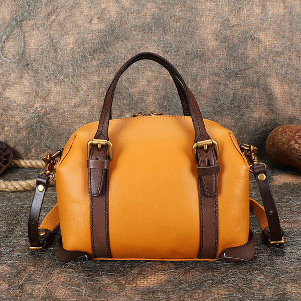 Vintage Women's Genuine Leather Handbags Crossbody Sling Bags Purse for Women