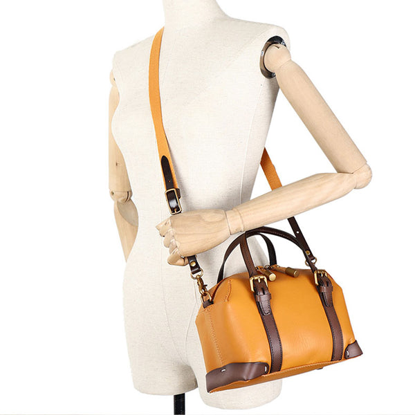 Vintage Women's Genuine Leather Handbags Crossbody Sling Bags Purse for Women Durable