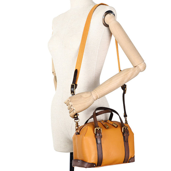 Vintage Women's Genuine Leather Handbags Crossbody Sling Bags Purse for Women Fashion