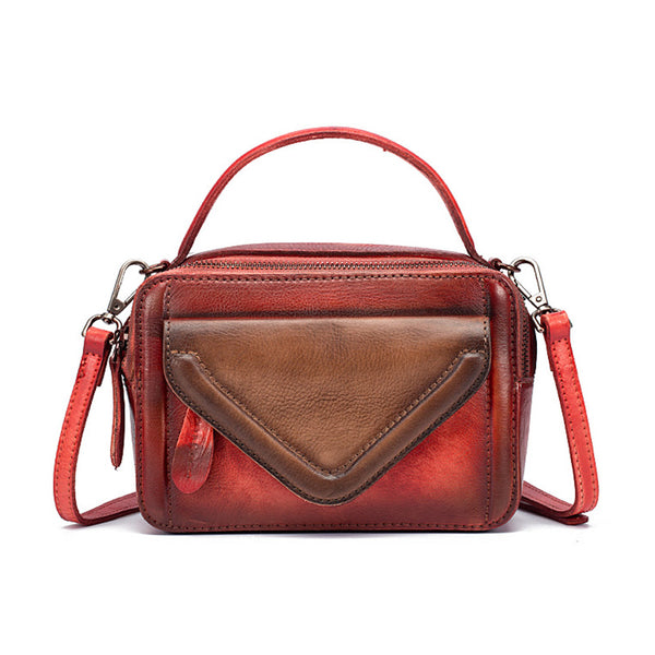 Vintage Women's Leather Handbags Crossbody Bags Shoulder Bag for Women cute