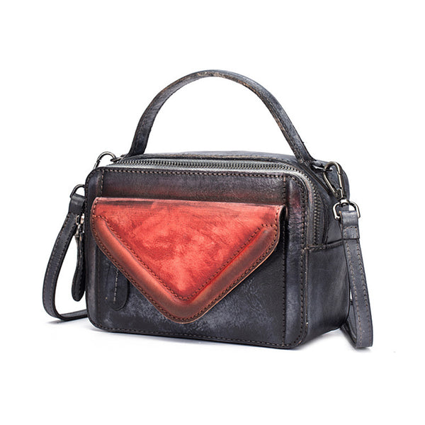 Vintage Women's Leather Handbags Crossbody Bags Shoulder Bag for Women