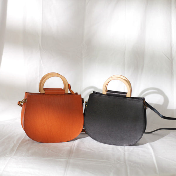 Vintage Women's Small Real Leather Crossbody Handbags Over the Shoulder Purse for Women Cute