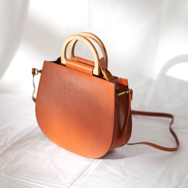 Vintage Women's Small Real Leather Crossbody Handbags