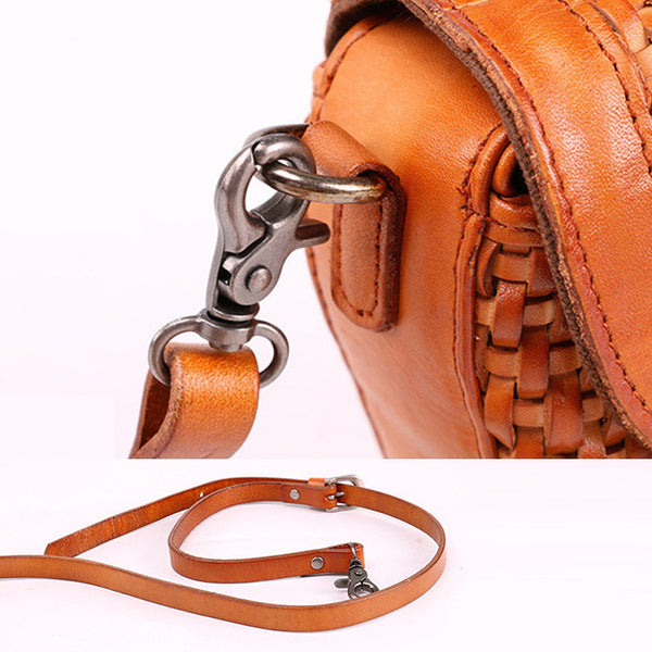 Vintage Womens Boho Leather Braided Satchel Bags Small Handbags Purse For Women Online