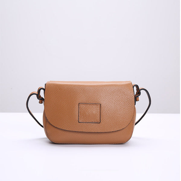 Vintage Womens Leather Saddle Bag Crossbody Bags Purse for Women