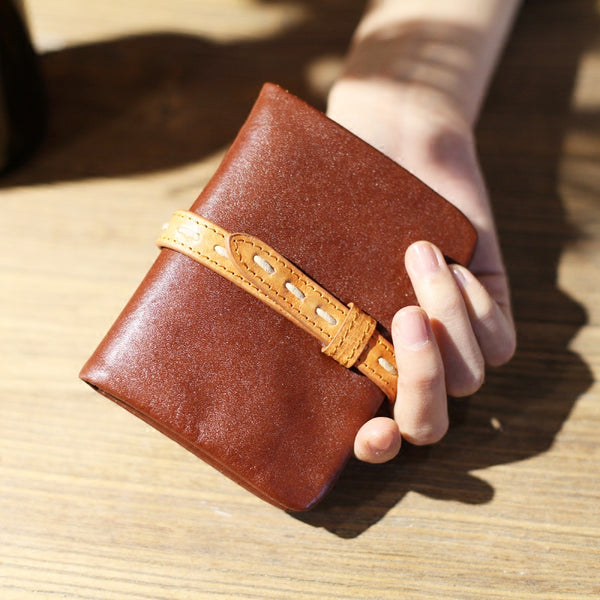 Vintage Womens Leather Small Wallet Purse Handmade Clutch for Women Accessories