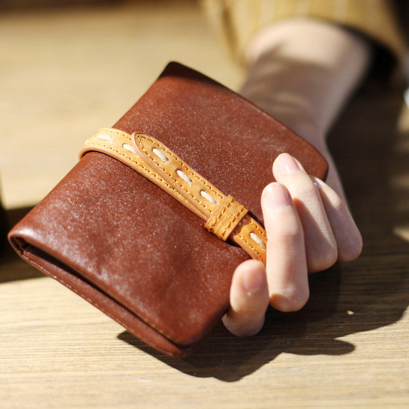 Vintage Womens Leather Small Wallet Purse Handmade Clutch for Women best