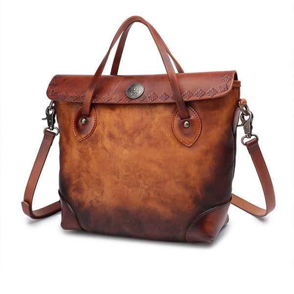 Vintage Womens Leather Tote Bag