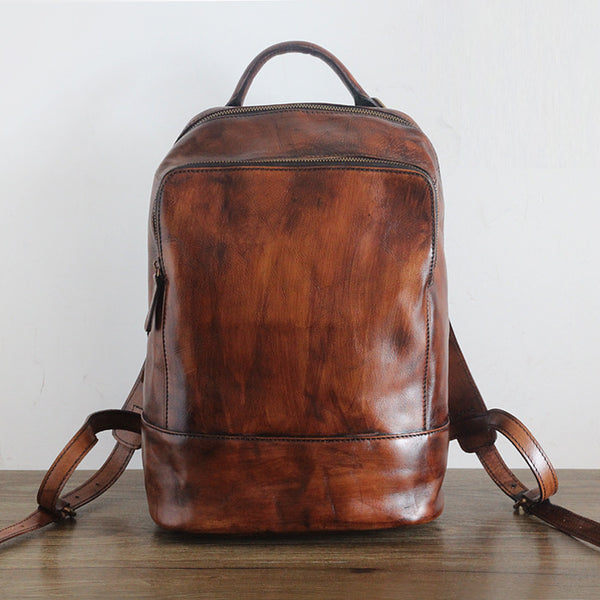 Vintage Womens Small Brown Leather Backpack Bag Purse Cool Backpacks for Women best