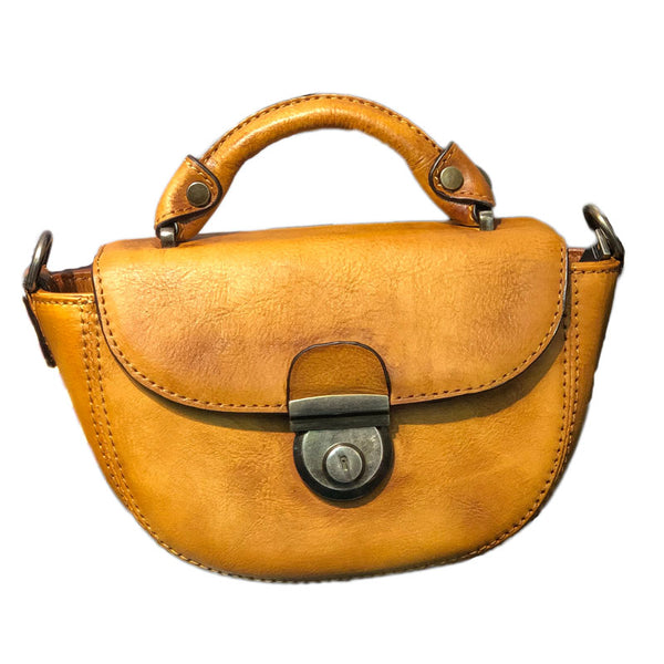 Vintage Womens Small Leather Crossbody Saddle Bag Handbags for Women Beautiful