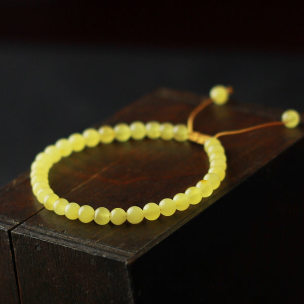 Wax Jade Beaded Bracelet Handmade Jewelry Accessories Gift Women beautiful
