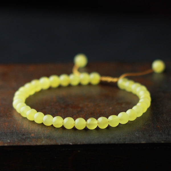 Wax Jade Beaded Bracelet Handmade Jewelry Accessories Gift Women