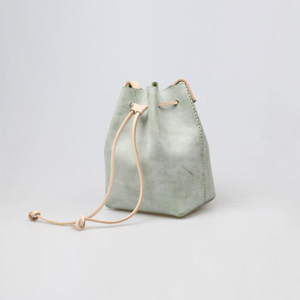 Wax Leather Bucket Bag Womens Crossbody Bags Shoulder Bag for Women Boutique