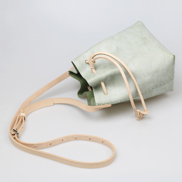 Wax Leather Bucket Bag Womens Crossbody Bags Shoulder Bag for Women best