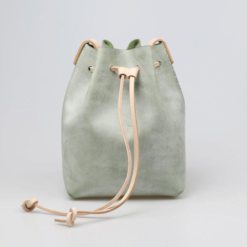 Wax Leather Bucket Bag Womens Crossbody Bags Shoulder Bag for Women