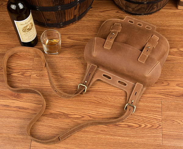 Western Women's Brown Leather Crossbody Satchel Bag Purse Side Bag For Womens Brown