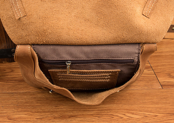 Western Women's Brown Leather Crossbody Satchel Bag Purse Side Bag For Womens Details