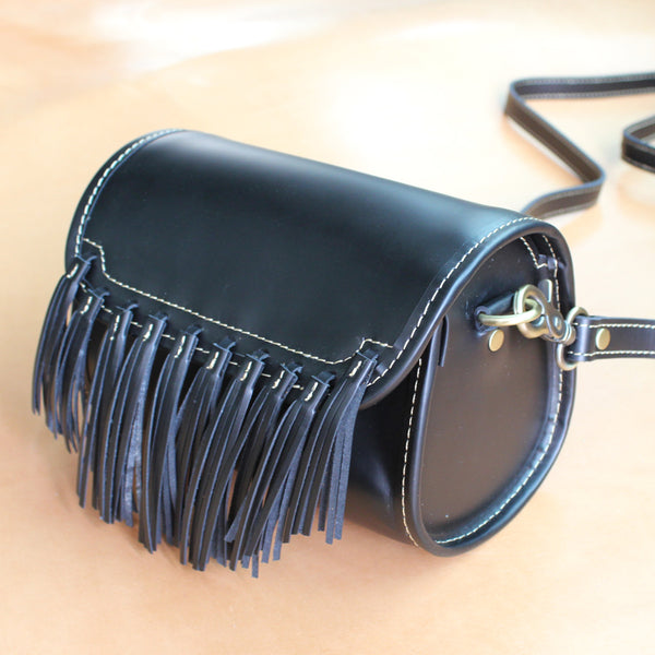 Western Womens Leather Purses With Fringe Cute Crossbody Bags for Women