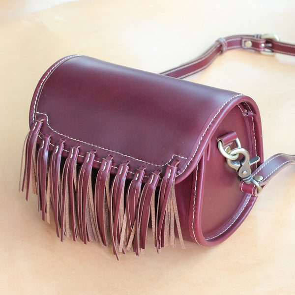 Western Womens Leather Purses With Fringe Cute Crossbody Bags