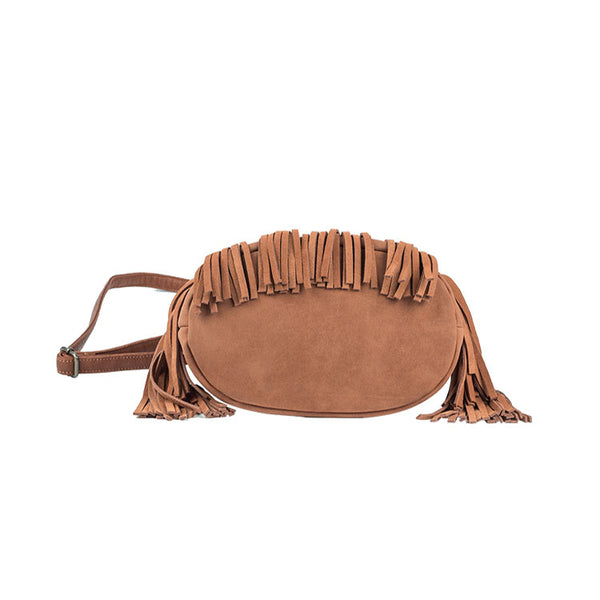 Western Womens PU Leather Crossbody Bucket Purse With Fringe  Bags for Women Funky