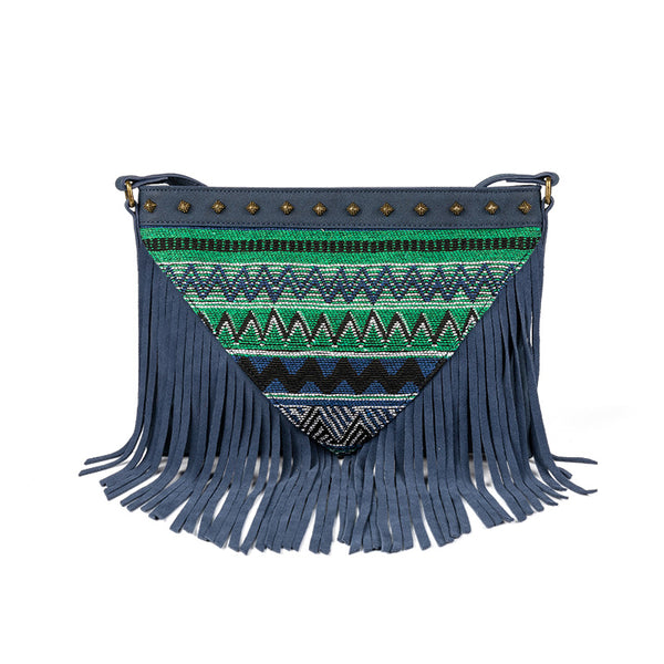 Western Womens PU Leather Fringe Crossbody Purse Boho Sling Bag for Women Affordable