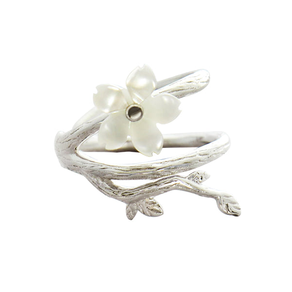 White Flower Cartilage Earrings Sterling Silver Clip On Earrings for Women Accessories