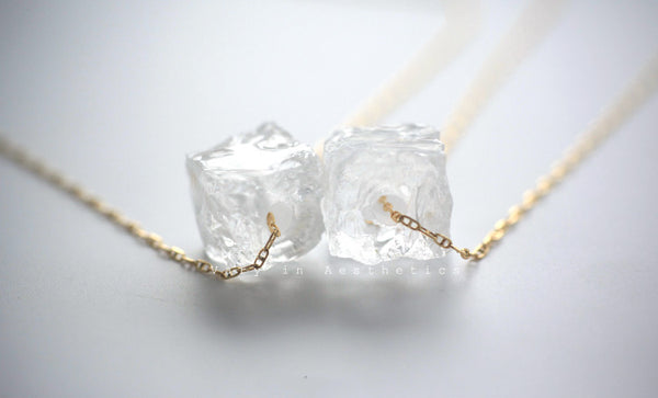 Womens Natural White Quartz Pendant Necklace For Women