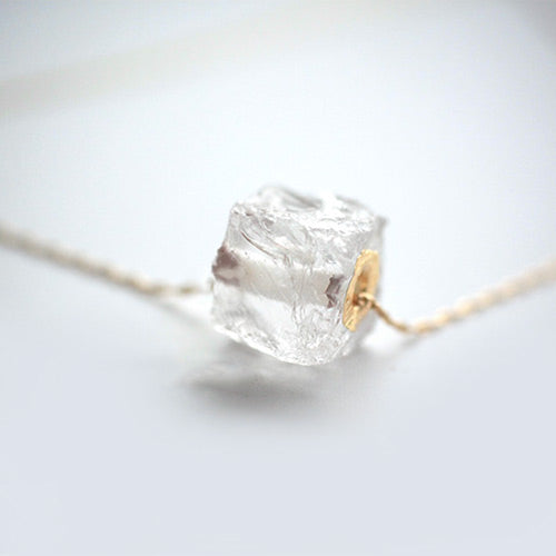 White Quartz Crystal Necklace jewelry Accessories Women