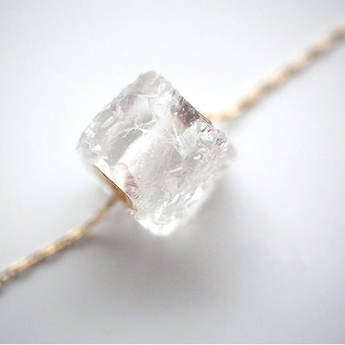 White Quartz Crystal Pendant Necklace jewelry Accessories Women