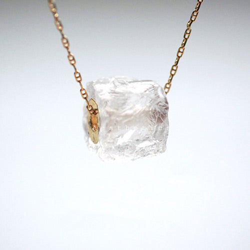 Natural white quartz raw crystal pendant necklace double strand long white quartz crystal pendant necklace jewelry accessories mozeypictures Image collections