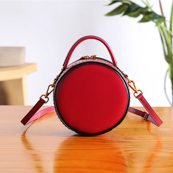 Women Circle Bag Leather Crossbody Bags Shoulder Bag Purses for Women Details