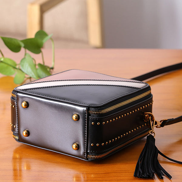 Women Cube Bag Leather Crossbody Bags Shoulder Bag Purses for Women Designer