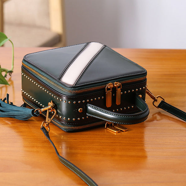 Women Cube Bag Leather Crossbody Bags Shoulder Bag Purses for Women Details