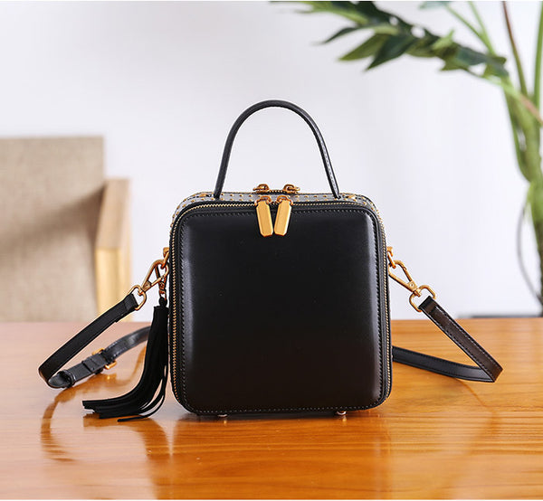 Women Cube Bag Leather Crossbody Bags Shoulder Bag Purses for Women Original