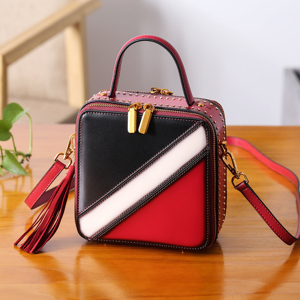 Women Cube Bag Leather Crossbody Bags Shoulder Bag Purses for Women beautiful