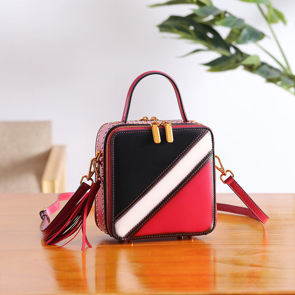 Women Cube Bag Leather Crossbody Bags Shoulder Bag Purses for Women best