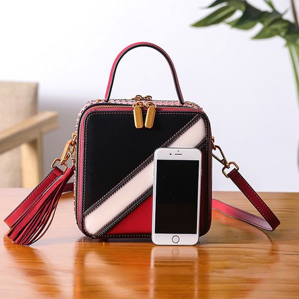 Women Cube Bag Leather Crossbody Bags Shoulder Bag Purses for Women cool