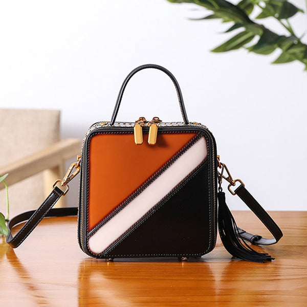 Women Cube Bag Leather Crossbody Bags Shoulder Bag Purses for Women fashion