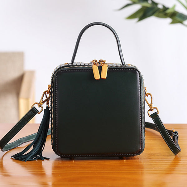 Women Cube Bag Leather Crossbody Bags Shoulder Bag Purses for Women gift